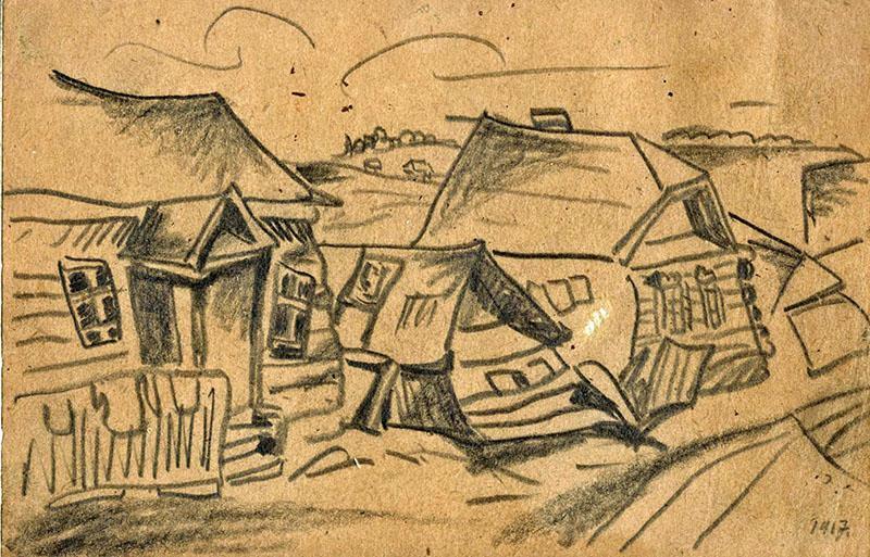 A shtetl – Ryback Issachar (1897-1935) (1917)