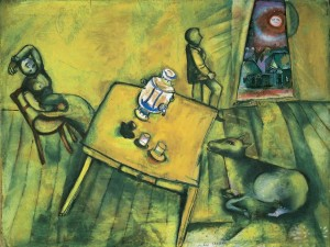 Chagall - La chambre jaune (1911)