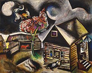 Chagall - La pluie (1911)